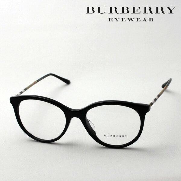 【BURBERRY】 バーバリー メガネ BE2244QF 3001 伊達メガネ 度付き ブルーライト ブルーライトカット 眼鏡 黒縁 フォックス