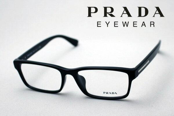 【PRADA】 プラダ メガネ フレーム PR01SV 1AB1O1 伊達メガネ 度付き ブルーライト ブルーライトカット 眼鏡 スクエア