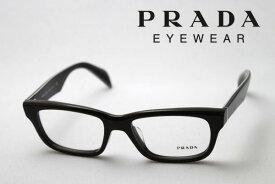 SALE特価 【プラダ メガネ 正規販売店】 Made In Italy PRADA PR11QVF DHO1O1 伊達メガネ 度付き ブルーライト カット 眼鏡 スクエア
