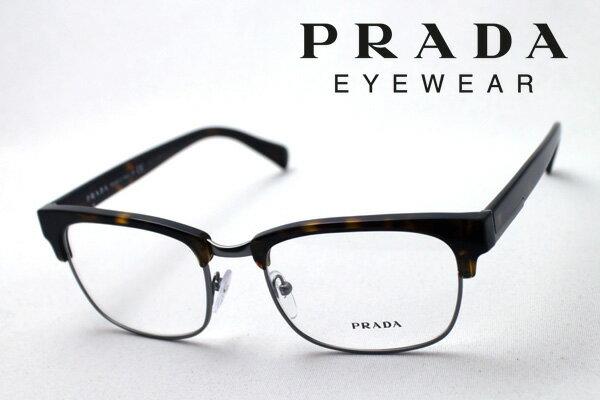 【PRADA】 プラダ メガネ PR12RV 2AU1O1 伊達メガネ 度付き ブルーライト ブルーライトカット 眼鏡 DEAL ブロー