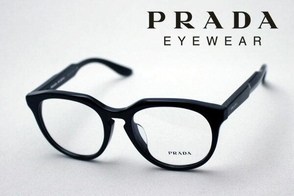 【PRADA】 プラダ メガネ フレーム PR13SVF 1AB1O1 丸 メガネ 伊達メガネ 度付き ブルーライト ブルーライトカット 眼鏡 丸メガネ ボストン