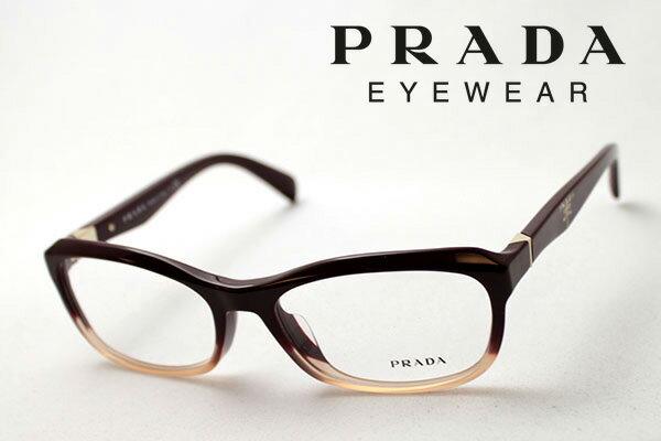 【PRADA】 プラダ メガネ フレーム PR21OVA JAJ1O1 伊達メガネ 度付き ブルーライト ブルーライトカット 眼鏡 シェイプ