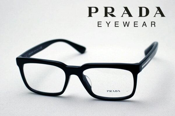 明日の朝9時59分終了 ほぼ全品ポイント15〜20倍 【PRADA】 プラダ メガネ フレーム PR28RVF 1AB1O1 伊達メガネ 度付き ブルーライト ブルーライトカット 眼鏡 スクエア