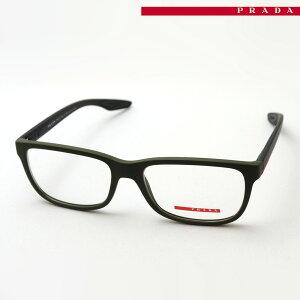 おすすめ価格 プラダリネアロッサ(旧プラダスポーツ) メガネ フレーム PRADA LINEA ROSSA(旧PRADA SPORT) PS02GV UBW1O1 伊達メガネ 度付き ブルーライト カット 眼鏡 Made In Italy スクエア グリーン系