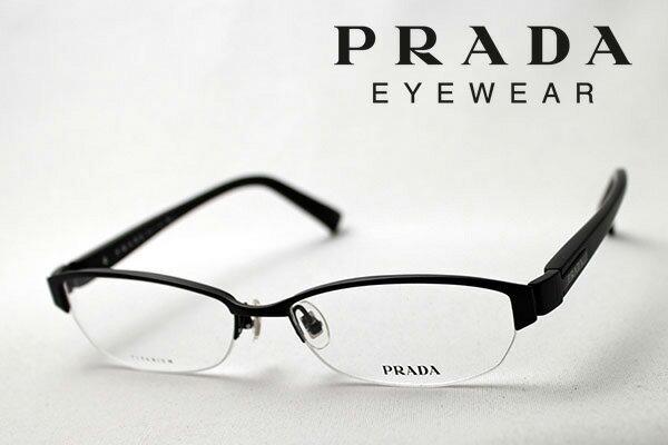 【PRADA】 プラダ メガネ フレーム PR60OV 1BO1O1 伊達メガネ 度付き ブルーライト ブルーライトカット 眼鏡 シェイプ