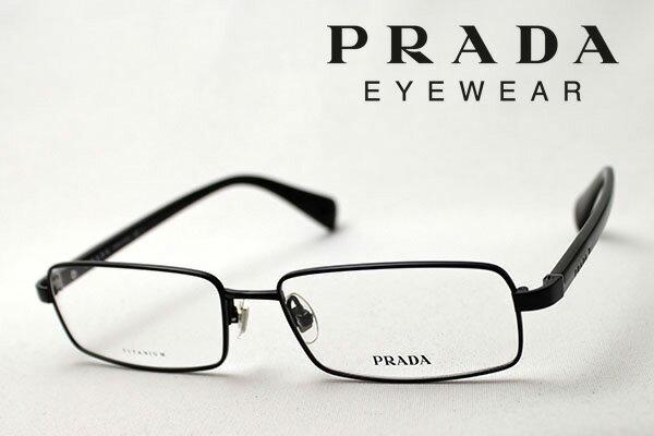 【PRADA】 プラダ メガネ フレーム PR63OV 1BO1O1 メタル 伊達メガネ 度付き ブルーライト ブルーライトカット 眼鏡 スクエア
