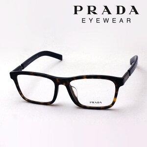 【プラダメガネ正規販売店】PRADAPR16XVF2AU1O1伊達メガネ度付きブルーライトカット眼鏡CATWALKMadeInItalyスクエアトータス系