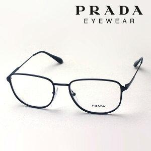 NewModel 【プラダ メガネ正規販売店】 PRADA PR58XV 1AB1O1 54 メタル 伊達メガネ 度付き ブルーライト カット 眼鏡 CONCEPTUAL Made In Italy 黒縁 スクエア ブラック系