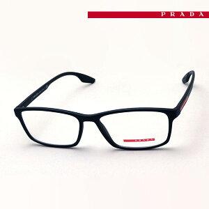 NewModel 【プラダリネアロッサ メガネ 正規販売店】 LINEA ROSSA 伊達メガネ 度付き ブルーライト カット 眼鏡 PS04MV 1BO1O1 56 プラダ メガネ フレーム Made In Italy スクエア ブラック系