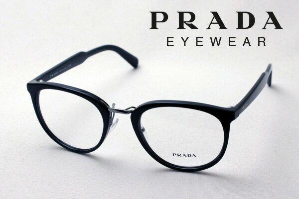 1月18日(金)23時59分終了 ほぼ全品ポイント15倍 【プラダ メガネ正規販売店】 PRADA PR03TV 1AB1O1 丸 メガネ 伊達メガネ 度付き ブルーライト カット 眼鏡 CONCEPTUAL Made In Italy NewModel ボストン