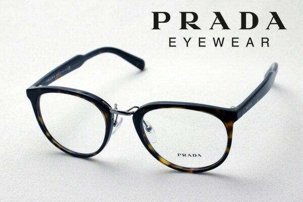 【PRADA】 プラダ メガネ フレーム PR03TV 2AU1O1 丸 メガネ 伊達メガネ 度付き ブルーライト ブルーライトカット 眼鏡 CONCEPTUAL Made In Italy NewModel ボストン