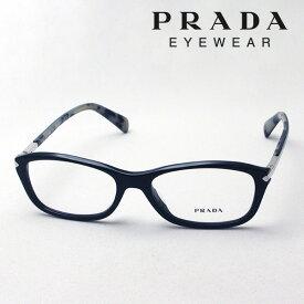 大ヒットモデル 本日の朝に終了 ほぼ全商品ポイント20倍 7月19日(金)午前9時59分まで 【プラダ メガネ正規販売店】 Made In Italy PRADA PR04PVA 1AB1O1 伊達メガネ 度付き ブルーライト カット 眼鏡 シェイプ