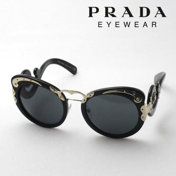 【PRADA】 プラダ サングラス ダブルブリッジ PR07TS 1AB1A1 ミニマルバロック レディース シェイプ