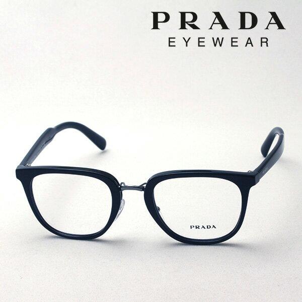 今夜23時59分終了 ほぼ全品がポイント15〜20倍+3倍 【プラダ メガネ正規販売店】 PRADA NewModel PR10TV 1AB1O1 伊達メガネ 度付き ブルーライト ブルーライトカット 眼鏡 Made In Italy スクエア