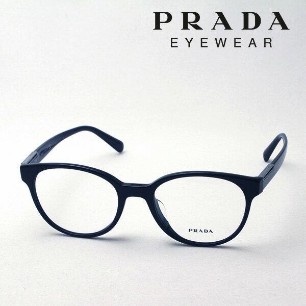 今夜23時59分終了 ほぼ全品がポイント15〜20倍+3倍 【プラダ メガネ正規販売店】 PRADA NewModel PR10UVF 1AB1O1 伊達メガネ 度付き ブルーライト ブルーライトカット 眼鏡 CONCEPTUAL Made In Italy ボストン