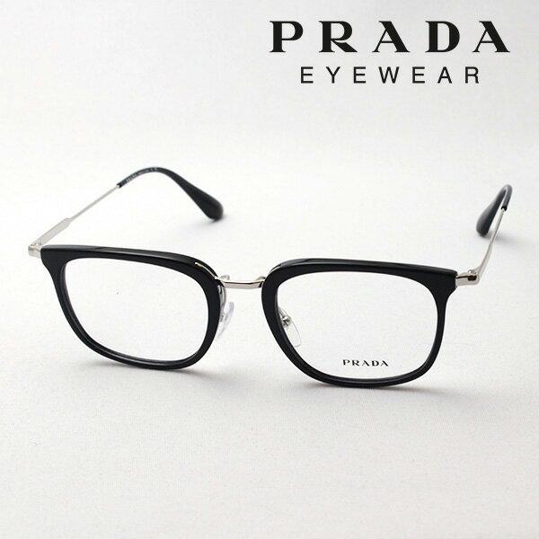 今夜23時59分終了 ほぼ全品がポイント15〜20倍+3倍 【プラダ メガネ正規販売店】 PRADA NewModel PR11UV 1AB1O1 伊達メガネ 度付き ブルーライト ブルーライトカット 眼鏡 NewModel Made In Italy スクエア