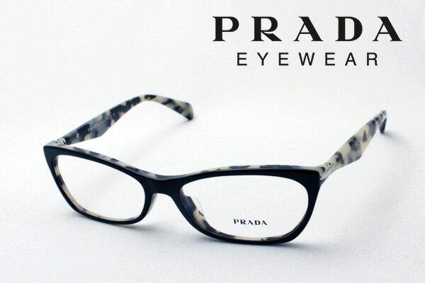 今夜23時時59分終了 ほぼ全品15〜20倍 【PRADA】 プラダ メガネ フレーム PR15PVA ROK1O1 伊達メガネ 度付き ブルーライト ブルーライトカット 眼鏡 シェイプ