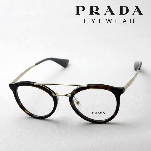 【PRADA】 プラダ メガネ フレーム NewModel ダブルブリッジ PR15TV 2AU1O1 伊達メガネ 度付き ブルーライト ブルーライトカット 眼鏡 Made In Italy フォックス