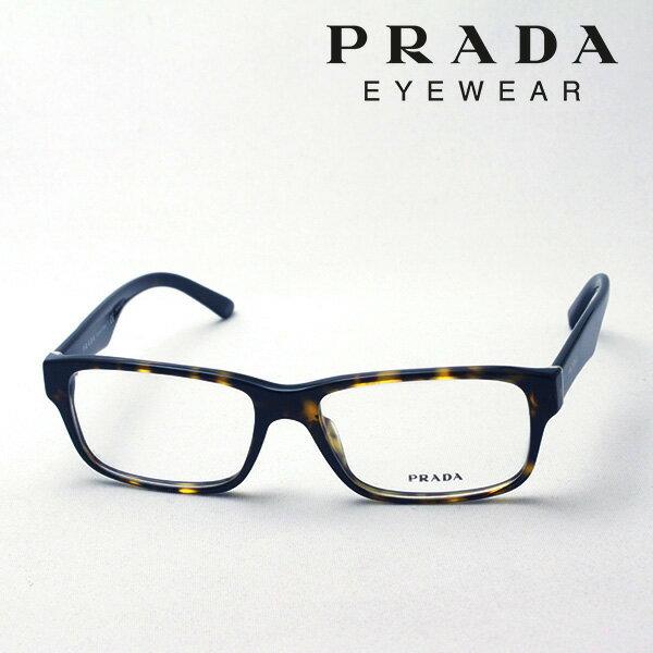 大ヒットモデル 【プラダ メガネ正規販売店】 PRADA PR16MVA 2AU1O1 伊達メガネ 度付き ブルーライト ブルーライトカット 眼鏡 Made In Italy ウェリントン