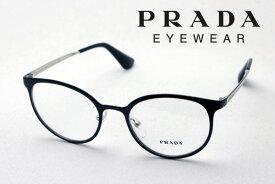 【プラダ メガネ正規販売店】 Made In Italy PRADA PR53TV 1AB1O1 丸 メガネ メタル 伊達メガネ 度付き ブルーライト カット 眼鏡 シネマ CINEMA CATWALK フォックス