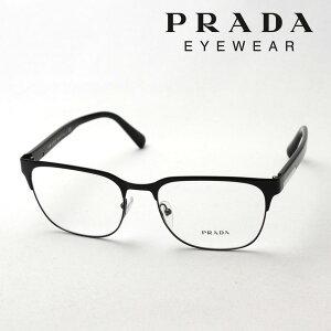 【プラダ メガネ正規販売店】 Made In Italy PRADA PR57UV 1AB1O1 メタル 伊達メガネ 度付き ブルーライト カット 眼鏡 ブロー