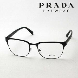 【プラダ メガネ正規販売店】 Made In Italy PRADA PR57UV 1BO1O1 メタル 伊達メガネ 度付き ブルーライト カット 眼鏡 ブロー