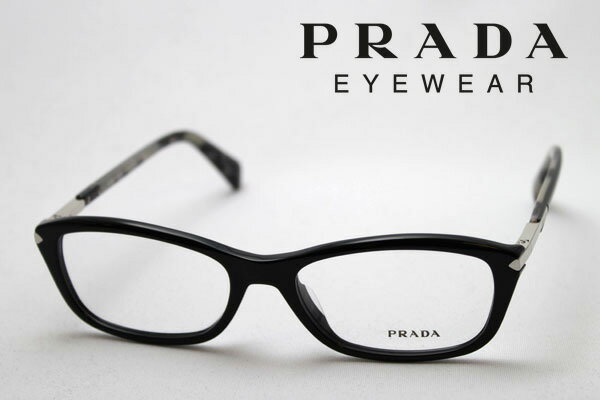 【PRADA】 プラダ メガネ フレーム PR04PVA 1AB1O1 伊達メガネ 度付き ブルーライト ブルーライトカット 眼鏡 シェイプ