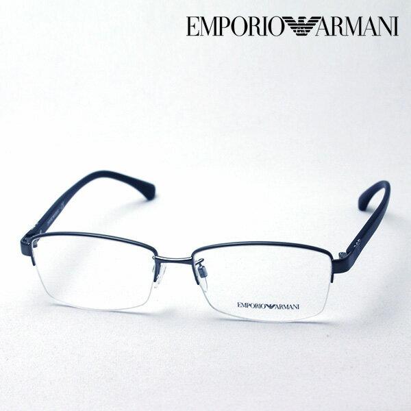 大ヒットモデル 1月20日(日)午前9時59分終了 ほぼ全品ポイント15倍 【エンポリオアルマーニ メガネ 正規販売店】 EMPORIO ARMANI EA1060D 3003 メガネ 伊達メガネ 度付き ブルーライト カット 眼鏡 エンポリオ アルマーニ ハーフリム