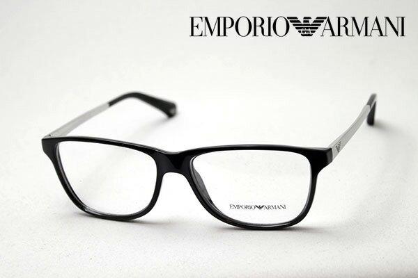 【 EMPORIO ARMANI】 エンポリオアルマーニ メガネ EA3025 5017 メガネ 伊達メガネ 度付き ブルーライト ブルーライトカット 眼鏡 黒縁 エンポリオ アルマーニ ウェリントン