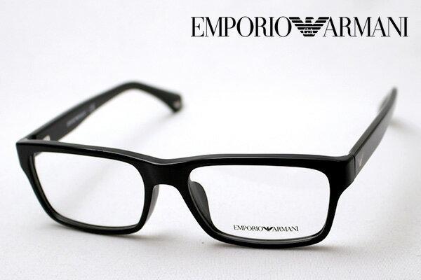 本日の朝9時59分終了 ほぼ全品ポイント15〜20倍+5倍 【EMPORIO ARMANI】 エンポリオアルマーニ メガネ EA3050F 5017 メガネ 伊達メガネ 度付き ブルーライト ブルーライトカット 眼鏡 黒縁 エンポリオ アルマーニ スクエア