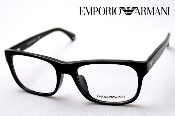 【 EMPORIO ARMANI】 エンポリオアルマーニ メガネ EA3056F 5017 メガネ 伊達メガネ 度付き ブルーライト ブルーライトカット 眼鏡 黒縁 エンポリオ アルマーニ ウェリントン
