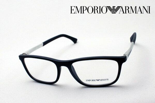【EMPORIO ARMANI】 エンポリオアルマーニ メガネ EA3069 5063 メガネ 伊達メガネ 度付き ブルーライト ブルーライトカット 眼鏡 黒縁 エンポリオ アルマーニ スクエア