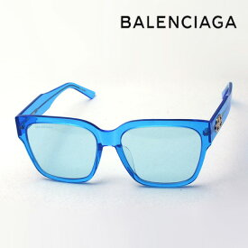 NewModel 【バレンシアガ サングラス 正規販売店】 BALENCIAGA バレンシアガ デムナ・ヴァザリアデザイン BB0056SA 004 Made In Italy スクエア ブルー系