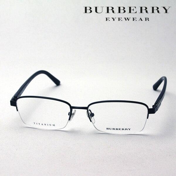 大ヒットモデル 4月22日(月)23時59分終了 ほぼ全品ポイント20倍+3倍のWチャンス 【バーバリー メガネ 正規販売店】 BURBERRY BE1288TD 1001 伊達メガネ 度付き ブルーライト カット 眼鏡 ハーフリム
