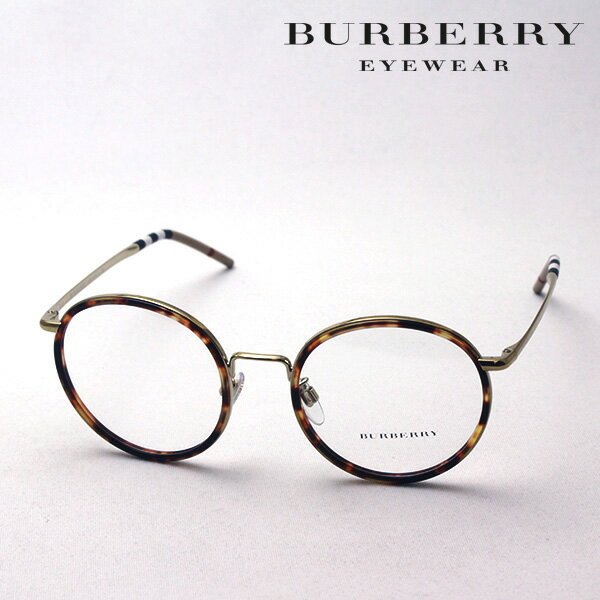 大ヒットモデル 4月22日(月)23時59分終了 ほぼ全品ポイント20倍+3倍のWチャンス 【バーバリー メガネ 正規販売店】 BURBERRY BE1326D 1145 伊達メガネ 度付き ブルーライト カット 眼鏡 Made In Italy ラウンド