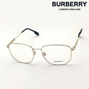 NewModel 【バーバリー メガネ 正規販売店】 BURBERRY BE1352D 1017 56 伊達メガネ 度付き ブルーライト カット 眼鏡 Made In Italy スクエア ゴールド系