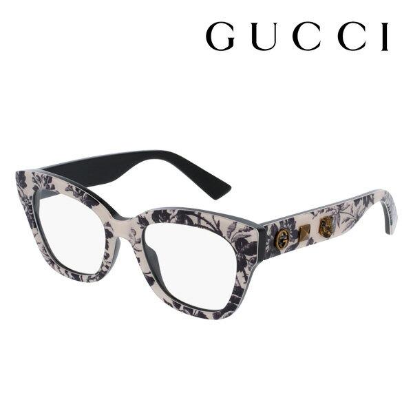【GUCCI】 グッチ メガネ 正規販売店 2017年モデル アレッサンドロ・ミケーレデザイン GG0060O 004 伊達メガネ 度付き 眼鏡 DEAL SYMBOLS Made In Italy DEAL フォックス