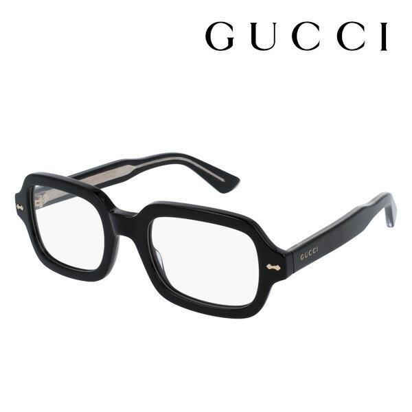 1月23日(水)午前9時59分終了 ほぼ全品15%ポイントバック 【グッチ メガネ 正規販売店】 GUCCI アレッサンドロ・ミケーレデザイン GG0072O 001 伊達メガネ 度付き 眼鏡 DECORNESS Made In Italy スクエア