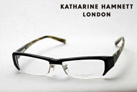 まもなく終了 ポイント10倍 10月25日(日)23時59分まで 【KATHARINE HAMNETT】 KH9090 1 キャサリンハムネット メガネ 伊達メガネ 度付き ブルーライト カット 眼鏡 ブラック おしゃれ OL ハーフリム