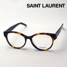 NewModel 【サンローラン メガネ 正規販売店】 SAINT LAURENT SL M34F 005 サン ローラン 伊達メガネ 度付き ブルーライト カット 眼鏡 Made In Italy ボストン