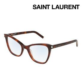 NewModel 【サンローラン メガネ 正規販売店】 SAINT LAURENT SL219 002 サン ローラン 伊達メガネ 度付き ブルーライト カット 眼鏡 Made In Italy フォックス