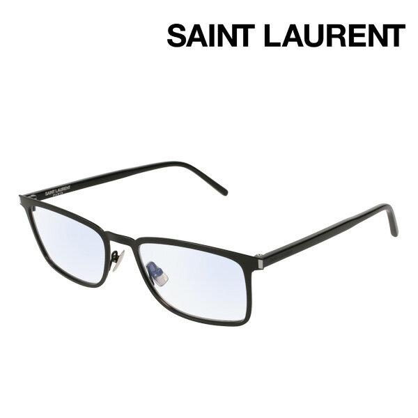NewModel 【サンローラン メガネ 正規販売店】 SAINT LAURENT SL226 001 サン ローラン 伊達メガネ 度付き ブルーライト カット 眼鏡 made In Italy スクエア