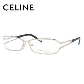 [スーパーSALE 50%OFF]【伊達・度付きレンズ無料】セリーヌ メガネ フレーム 眼鏡 VC1309S 54サイズ 0300 度付きメガネ 伊達メガネ ブルーライト 遠近両用 老眼鏡 レディース ハーフリム スクエア 【CELINE】