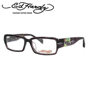 【訳あり】エドハーディー EdHardy メガネ フレーム 眼鏡 度付き 度なし 伊達 EHOA005 4 PURPLE HORN パープルホーン スクエア型 メンズ レディース UVカット 紫外線