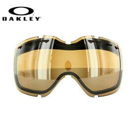 オークリー スノーゴーグル 交換レンズ OAKLEY STOCKHOLM ストックホルム 02-128 Black Iridium ブラック/ミラー 球面レンズ ダブルレンズ 曇り止め ウィンタースポーツ スノーボード SNOWBOAD スキー SKI 紫外線 UVカット