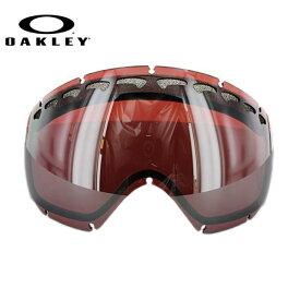オークリー スノーゴーグル 交換レンズ OAKLEY CROWBAR クローバー 59-765 Prizm Black Iridium プリズム ブラック/ミラー 球面レンズ ダブルレンズ 曇り止め ウィンタースポーツ スノーボード SNOWBOAD スキー SKI 紫外線 UVカット