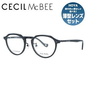 メガネ 眼鏡 度付き 度なし おしゃれ CECIL McBEE セシルマクビー CMF 7046-1 49サイズ ボストン型 レディース 女性 UVカット 紫外線 ブランド サングラス 伊達 ダテ 老眼鏡・PCレンズ・カラーレン