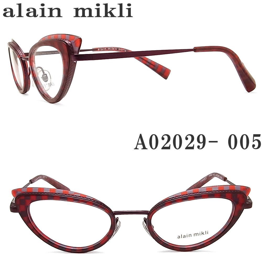 alain mikli アランミクリ メガネフレーム A02029-005 眼鏡 伊達メガネ 度付き ボルドー メンズ・レディース