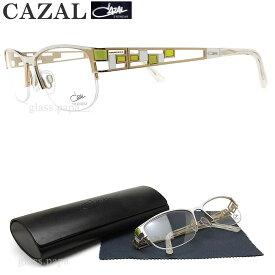 CAZAL カザール メガネフレーム 4211 003 眼鏡 ブランド 伊達メガネ 度付き ゴールド×ホワイト チタン レディース 女性