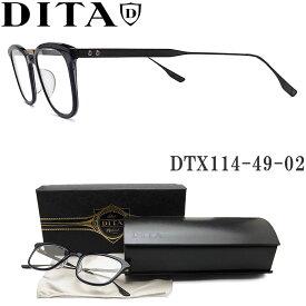 DITA ディータ メガネ フレーム DTX114-49-02【FLOREN】 眼鏡 クラシック 伊達メガネ 度付き ネイビー×ブラック メンズ・レディース